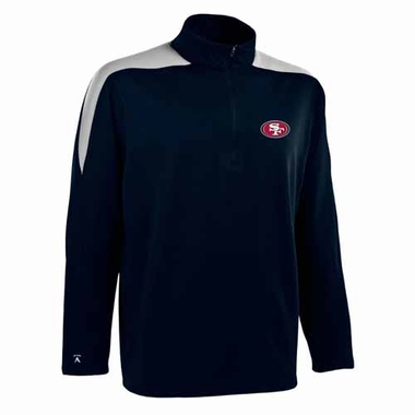 San Francisco 49ers Mens Succeed 1/4 Zip Performance Pullover (Color: Smoke)