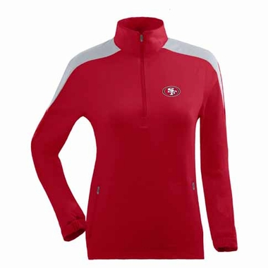 San Francisco 49ers Womens Succeed 1/4 Zip Performance Pullover (Team Color: Red)
