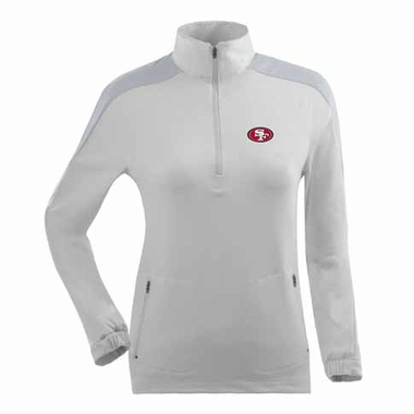 San Francisco 49ers Womens Succeed 1/4 Zip Performance Pullover (Color: White)
