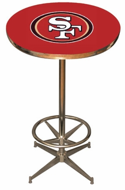 San Francisco 49ers Team Pub Table