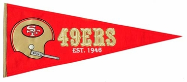 San Francisco 49ers Throwback Wool Pennant