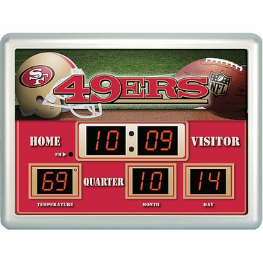 San Francisco 49ers Time / Date / Temp. Scoreboard