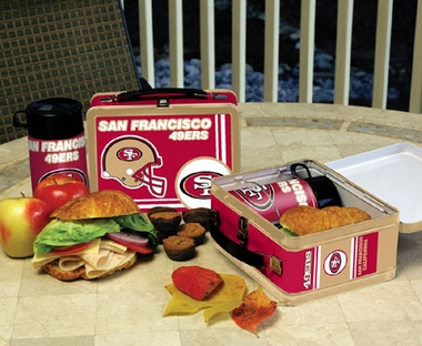 San Francisco 49ers Tin Lunch Box