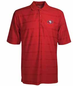 San Francisco 49ers Mens Tonal Polo (Team Color: Red) - XX-Large