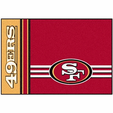 San Francisco 49ers Uniform Inspired 20 x 30 Rug