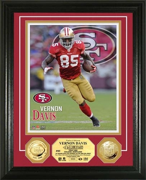 San Francisco 49ers Vernon Davis Gold Coin Photomint