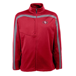 San Francisco 49ers Mens Viper Full Zip Performance Jacket (Team Color: Red)
