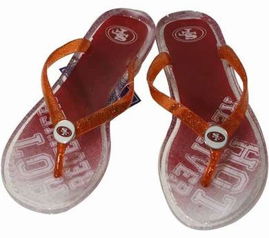 San Francisco 49ers Womens 2013 Slogan Jelly Flip Flop Slippers