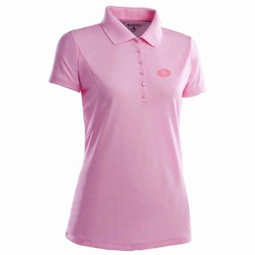 San Francisco 49ers Womens Pique Xtra Lite Polo Shirt (Color: Pink)