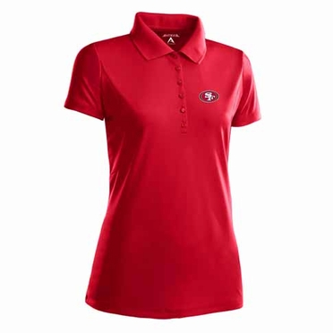 San Francisco 49ers Womens Pique Xtra Lite Polo Shirt (Team Color: Red)