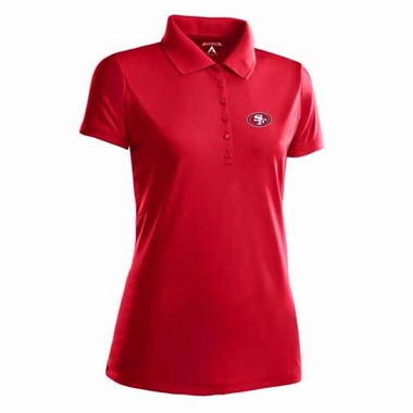 San Francisco 49ers Womens Pique Xtra Lite Polo Shirt (Color: Red)