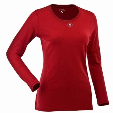 San Francisco 49ers Womens Relax Long Sleeve Tee (Team Color: Red)