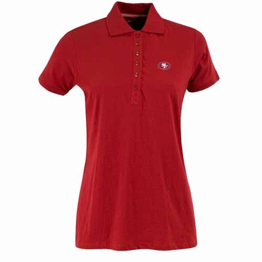 San Francisco 49ers Womens Spark Polo (Team Color: Red)