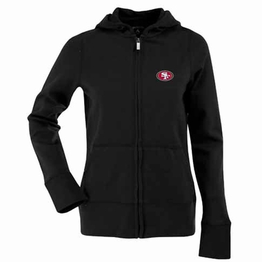 San Francisco 49ers Womens Zip Front Hoody Sweatshirt (Alternate Color: Black)
