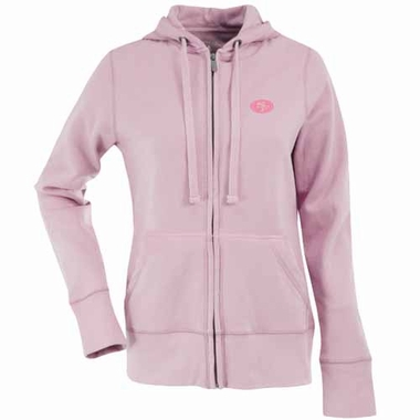 San Francisco 49ers Womens Zip Front Hoody Sweatshirt (Color: Pink)