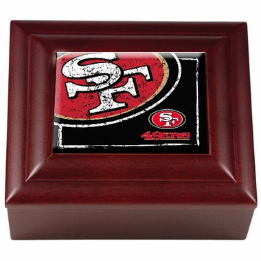 San Francisco 49ers Wooden Keepsake Box