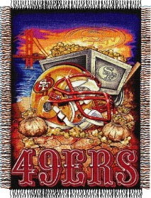 San Francisco 49ers Woven Tapestry Throw Blanket