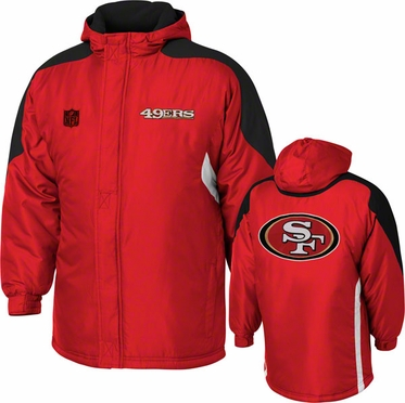 San Francisco 49ers YOUTH Field Goal Midweight Full Zip Hooded Jacket