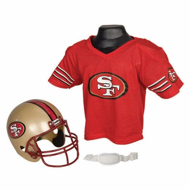 San Francisco 49ers Youth Helmet and Jersey Set