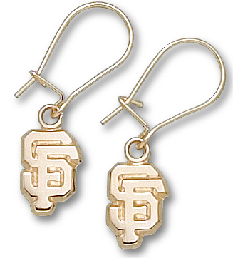 San Francisco Giants 10K Gold Post or Dangle Earrings