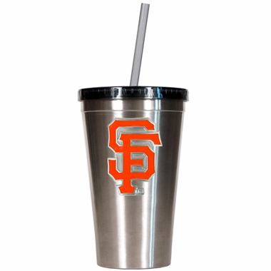 San Francisco Giants 16oz Stainless Steel Insulated Tumbler with Straw