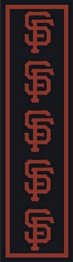 "San Francisco Giants 2'1"" x 7'8"" Premium Runner Rug"