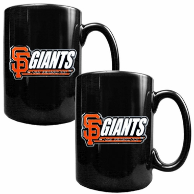 San Francisco Giants 2 Piece Coffee Mug Set (Wordmark)