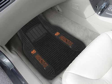 San Francisco Giants 2 Piece Heavy Duty DELUXE Vinyl Car Mats