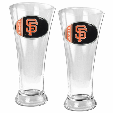 San Francisco Giants 2 Piece Pilsner Glass Set