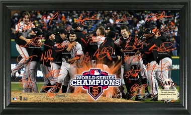 San Francisco Giants 2012 World Series Champions Celebration Signature Field