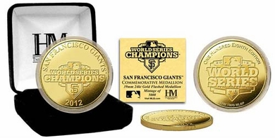 San Francisco Giants 2012 World Series Champions Gold Coin