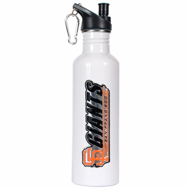 San Francisco Giants 26oz Stainless Steel Water Bottle (White)