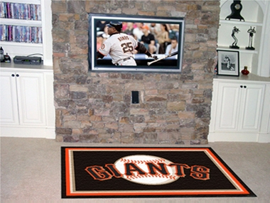 San Francisco Giants 4 Foot x 6 Foot Rug