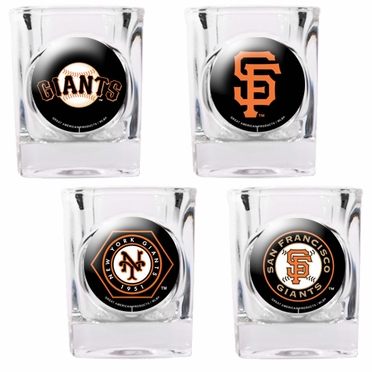 San Francisco Giants 4 Piece Assorted Shot Glass Set