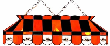 San Francisco Giants 40 Inch Rectangular Stained Glass Billiard Light