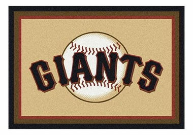 "San Francisco Giants 5'4"" x 7'8"" Premium Spirit Rug"