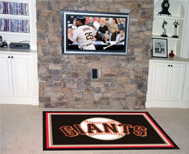 San Francisco Giants 5 Foot x 8 Foot Rug