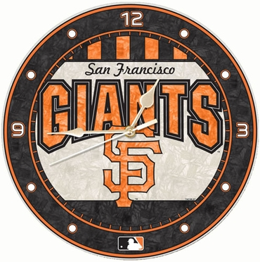 San Francisco Giants Art Glass Clock