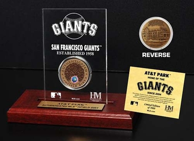 San Francisco Giants AT&T Park Infield Dirt Coin Etched Acrylic