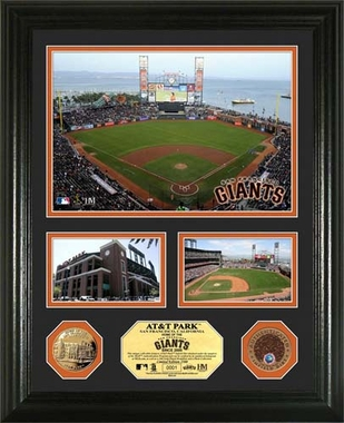 "San Francisco Giants AT&T Park Infield Dirt Coin ""Showcase"" Photo Mint"