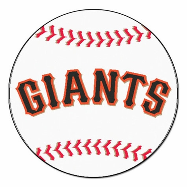 San Francisco Giants Baseball Shaped Rug