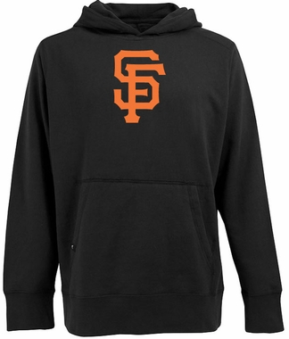 San Francisco Giants Big Logo Mens Signature Hooded Sweatshirt (Team Color: Black)