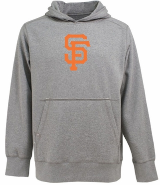 San Francisco Giants Big Logo Mens Signature Hooded Sweatshirt (Color: Gray)