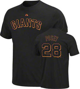 San Francisco Giants Buster Posey Name and Number T-Shirt - Medium