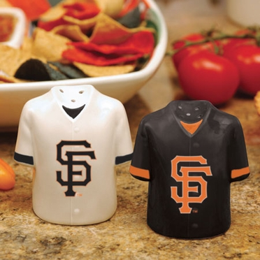 San Francisco Giants Ceramic Jersey Salt and Pepper Shakers