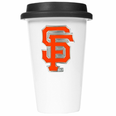 San Francisco Giants Ceramic Travel Cup (Black Lid)