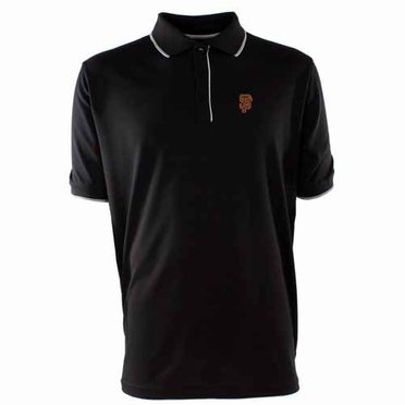 San Francisco Giants Mens Elite Polo Shirt (Team Color: Black)