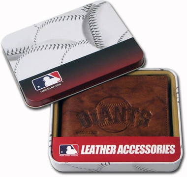 San Francisco Giants Embossed Leather Bifold Wallet
