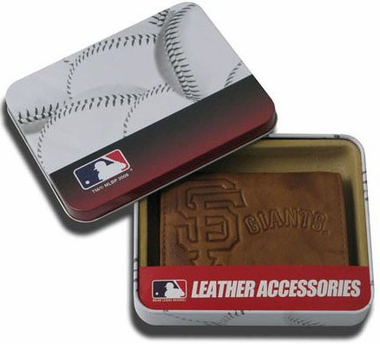 San Francisco Giants Embossed Leather Trifold Wallet