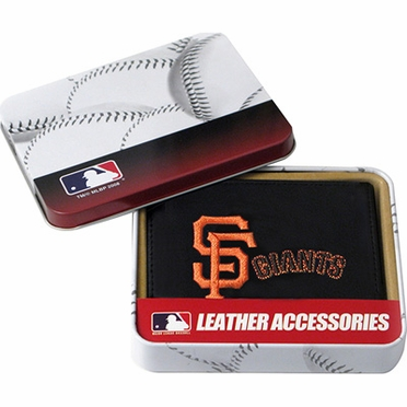 San Francisco Giants Embroidered Leather Tri-Fold Wallet